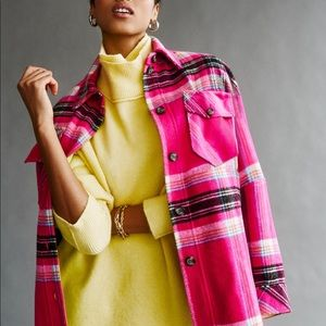 Free People Down For You Plaid Jacket